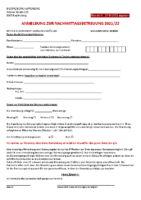 Anmeldeformular 2021